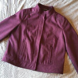Mossimo Purple Wool Moto Coat Jacket Size Large